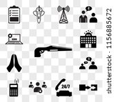 set of 13 transparent icons... | Shutterstock .eps vector #1156885672