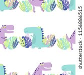 childish seamess pattern with... | Shutterstock .eps vector #1156886515