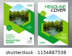 business brochure. flyer design.... | Shutterstock .eps vector #1156887538