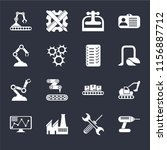 set of 16 icons such as drill ...