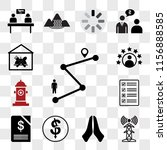 set of 13 transparent icons... | Shutterstock .eps vector #1156888585