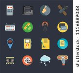 set of 16 icons such as touch...   Shutterstock .eps vector #1156889038
