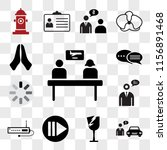 set of 13 transparent icons... | Shutterstock .eps vector #1156891468
