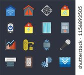 set of 16 icons such as deep ...