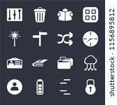 set of 16 icons such as locked  ... | Shutterstock .eps vector #1156895812