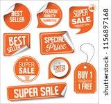 sale stickers vector... | Shutterstock .eps vector #1156897168