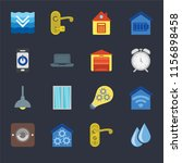 set of 16 icons such as water ...
