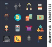 set of 16 icons such as maps...   Shutterstock .eps vector #1156898938