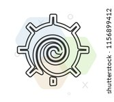 chakra icon vector can be used... | Shutterstock .eps vector #1156899412