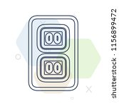 Socket icon vector can be used as png, Socket - stock vector