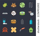 set of 16 icons such as... | Shutterstock .eps vector #1156901002