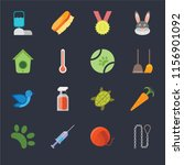 set of 16 icons such as leash ... | Shutterstock .eps vector #1156901092