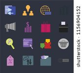set of 16 icons such as domain  ... | Shutterstock .eps vector #1156904152
