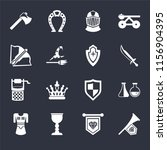 set of 16 icons such as fanfare ...