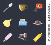 set of 9 simple icons such as... | Shutterstock .eps vector #1156905352