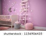 Baby Room Interior With Crib...