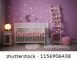 Baby Room Interior With Crib...