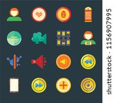 set of 16 icons such as restart ...