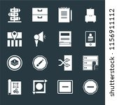 set of 16 icons such as minus ...