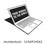 3d abstract laptop   black and... | Shutterstock .eps vector #1156914562