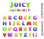 childrens font in the cartoon... | Shutterstock .eps vector #1156915948