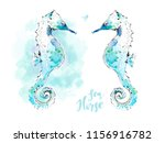 abstract seahorse isolated on... | Shutterstock . vector #1156916782