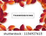 happy thanksgiving holiday... | Shutterstock .eps vector #1156927615