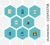 set of coffee icons flat style...   Shutterstock .eps vector #1156933708