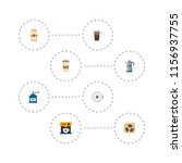 set of drink icons flat style... | Shutterstock .eps vector #1156937755