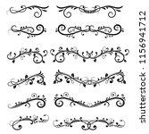 dividers. filigree floral... | Shutterstock .eps vector #1156941712