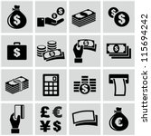 money icons set | Shutterstock .eps vector #115694242