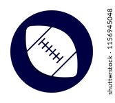american football icon in badge ...