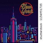 new york city skyline | Shutterstock .eps vector #1156951735