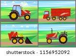 tractor grain truck working on...   Shutterstock .eps vector #1156952092