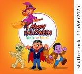 halloween banner graphic | Shutterstock .eps vector #1156952425