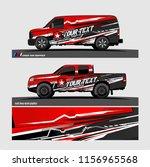 car decal  truck and cargo van... | Shutterstock .eps vector #1156965568