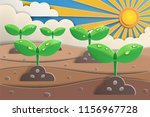 paper art of sprout grow up... | Shutterstock .eps vector #1156967728
