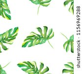tropical watercolor pattern... | Shutterstock . vector #1156969288