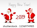 greeting card with the new year ...   Shutterstock .eps vector #1156974985