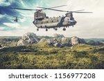 american twin engine  tandem...   Shutterstock . vector #1156977208