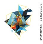 triangular design abstract... | Shutterstock .eps vector #1156992178
