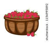 cartoon drawing of a basket... | Shutterstock .eps vector #1156995892