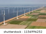 aerial view dutch agricultural... | Shutterstock . vector #1156996252