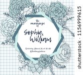 wedding card template.... | Shutterstock .eps vector #1156999615