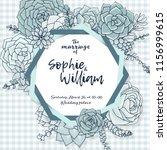 wedding card template.... | Shutterstock .eps vector #1156999615