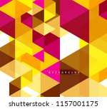 multicolored triangles abstract ... | Shutterstock .eps vector #1157001175