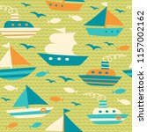 boat  ship  yacht  sailboat ... | Shutterstock .eps vector #1157002162