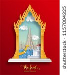 thailand travel concept the... | Shutterstock .eps vector #1157004325