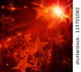 Abstract Shining Stars With...