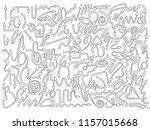 set of arrows doodle | Shutterstock .eps vector #1157015668